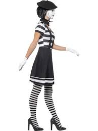 Mime Halloween Costumes Lady Mime Artist Costume Womens Costumes Fancy Dress Costume