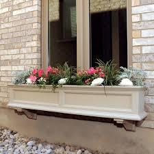 Window Planters Indoor by Mayne 48 Inch Rectangle Polyethylene Fairfield Window Box