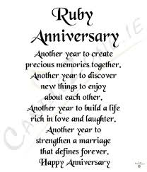 wedding quotes and poems ruby wedding anniversary poems gift ideas bethmaru