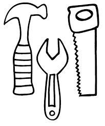 8 images of construction worker tools coloring page tools