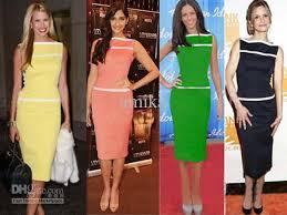pink black yellow green new womens fashion summer vintage pinup