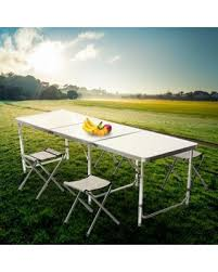 Outdoor Folding Tables Get The Deal 52 Off White Folding Table Portable Plastic Indoor
