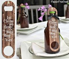 rustic wedding sayings bottle opener wedding favors with rustic wood fence say lets