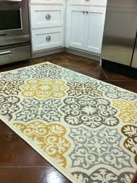 kitchen rug purchased from overstock com blue grey yellow