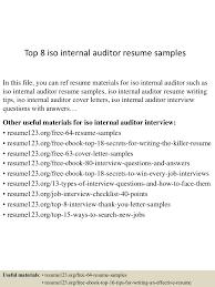 Internal Audit Job Description For Resume Top8isointernalauditorresumesamples 150528050915 Lva1 App6891 Thumbnail 4 Jpg Cb U003d1432789797