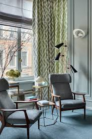 apartment office in russia featuring mid century modern furniture