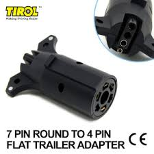 tirol 12v13 to 7 pin trailer adapter black frosted materials