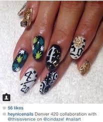 rasta weed nails nails pinterest weed nails makeup and dope