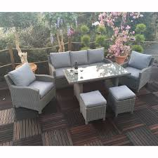 Windsor Sofa Royalcraft Windsor 6pc 3 Seater Rattan Sofa Set With Dining Table