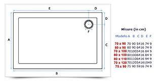 piatto doccia rettangolare 70 x 80 piatto doccia rettangolare ultra sottile 80x90 in acrilico