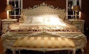 schlafzimmer barock antik bett 168x200 cm altweiß goldprofile pastellfarbene