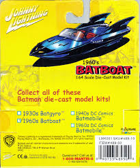 Toys And Stuff Johnny Lightning 1960s Batboat 1 64 Scale Die