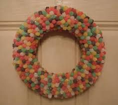 how to make wreaths how to make a gumdrop wreath christmas craft ideas
