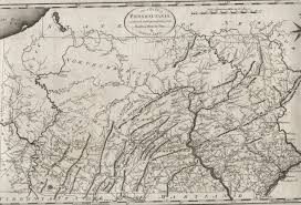 State Map Of Pennsylvania by 1795 To 1799 Pennsylvania Maps