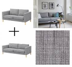 karlstad sofa and chaise lounge ikea karlstad sofa and loveseat slipcover cover isunda gray grey