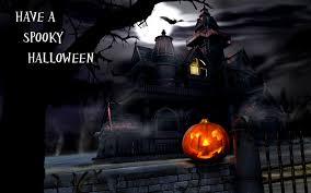 colorful glowing lantern pumpkins happy halloween greetings