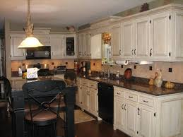 Espresso Cabinets With Black Appliances Kitchen With Black Appliances Rustic Brown Ceramic Floor Tile