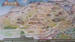 Delphi Greece Map by Travels Corbett Artym Page 2