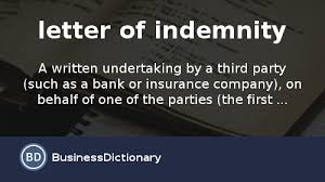 Sample Letter Explicit Mortgage Letter Of Explanation Sample by What Is Letter Of Indemnity Definition And Meaning