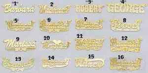 14k gold name plates personalized 14k gold gp silver name plate necklace 16 styles to