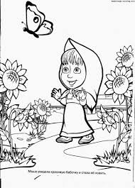 masha bear coloring books kids
