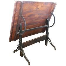 Vintage Wooden Drafting Table Furniture Antique Drafting Table Vintage Table Draftsman Table