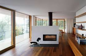 architecture modern fireplace in the middle living room rustic
