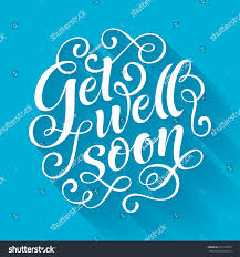 Invitation Card Printing Services Get Well Soon Vector Text On Stock Vector 321012632 Shutterstock