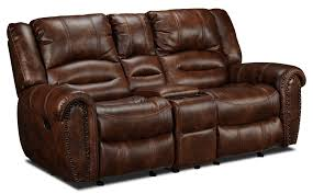 Loveseat Glider Whitaker Gliding Reclining Loveseat With Console Brown Leon U0027s
