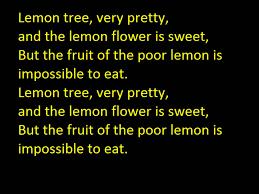 paul lemon tree with lyrics