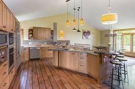 kitchen best galley kitchen yellow warm pendant lights