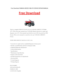 yamaha grizzly 660 atv service repair manual pdf pdf archive