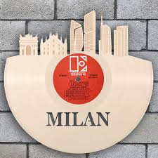 milano milan skyline italian wall decor italy gift cityscape