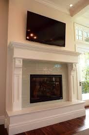 Fireplace Tile Design Ideas by Best 20 Glass Tile Fireplace Ideas On Pinterest Beach Bathrooms