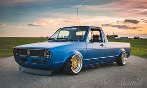 volkswagen truck concept built to drive the dub dynasty 1981 vw caddy u2013 slam u0027d mag