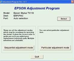 epson tx111 ink pad resetter reset epson tx110 tx111 printer tools