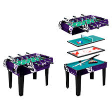 4 in one game table multi game table worker 4 in 1 insportline
