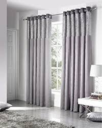 Grey Curtains 90 X 90 Silver Grey 90 X 90 Faux Silk Eyelet Heading Readymade Lined