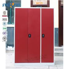 cheap price 3 door bedroom steel wardrobe design with mirror