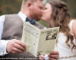 newspaper wedding programs newspaper wedding program