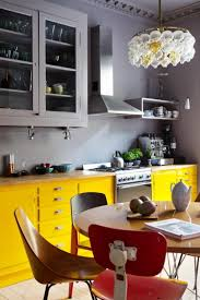 yellow kitchen ideas fascinating yellow kitchen cabinet storages with grey kitchen wall