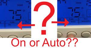 furnace fan on or auto in winter furnace fan best setting pro service mechanical