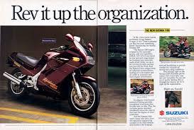 march 1988 cycle world magazine ad for the suzuki katana 1100