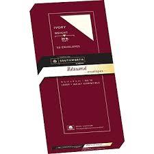 Print Resume At Staples Southworth 100 Cotton Resume Envelopes 10 24 Lb Wove Finish