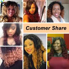 Two Tone Ombre Hair Extensions by Brazilian Human Hair Ombre Loose Wave Two Tone Red Wine Ombre Hair