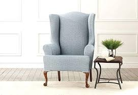 grey chair slipcovers grey wing chair slipcover sure fit slipcovers stretch vintage