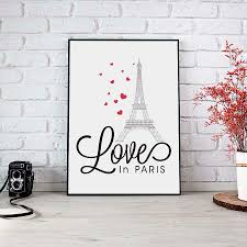 online get cheap wall quotes frames aliexpress alibaba group modern nordic love paris hearts quote canvas printing poster wall picture living room home