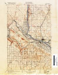 Map Of University Of Washington txu pclmaps topo wa pasco 1914 jpg