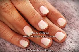 pink and white shellac nails how you can do it at home pictures