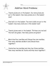 addition word problems grade addition word problems to 20 worksheets